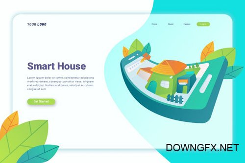 Smart House - Landing Page