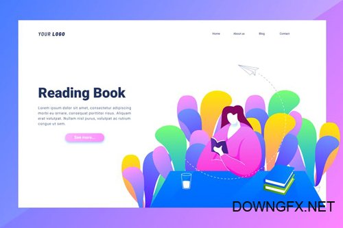 Reading Book - Landing Page
