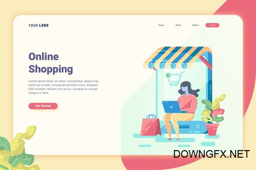 Online Shopping - Landing Page
