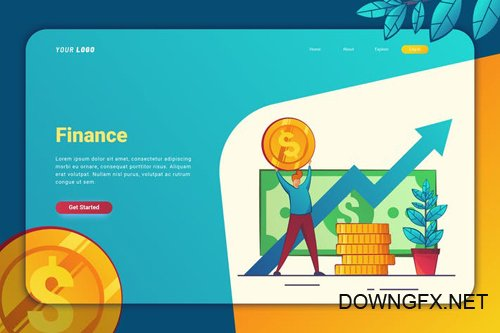 Finance - Landing Page