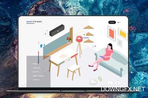 Hero Header Smartthings Isometric Template - 12