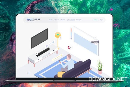 Hero Header Smartthings Isometric Template - 14