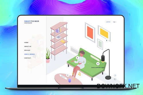 Hero Header Smartthings Isometric Template - 15