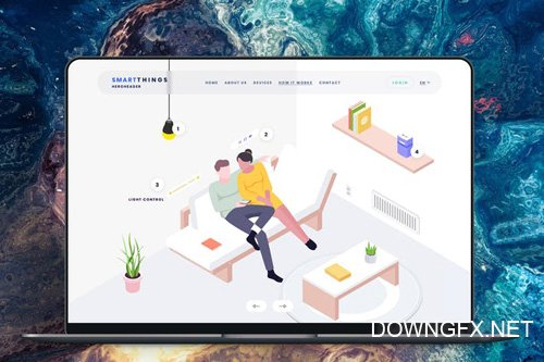 Hero Header Smartthings Isometric Template - 17