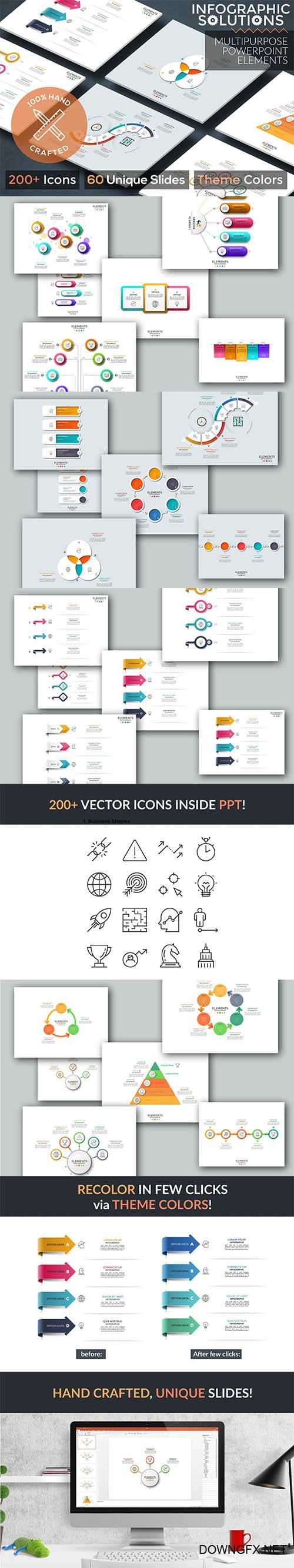 Infographic Solutions. P2. Powerpoint Template