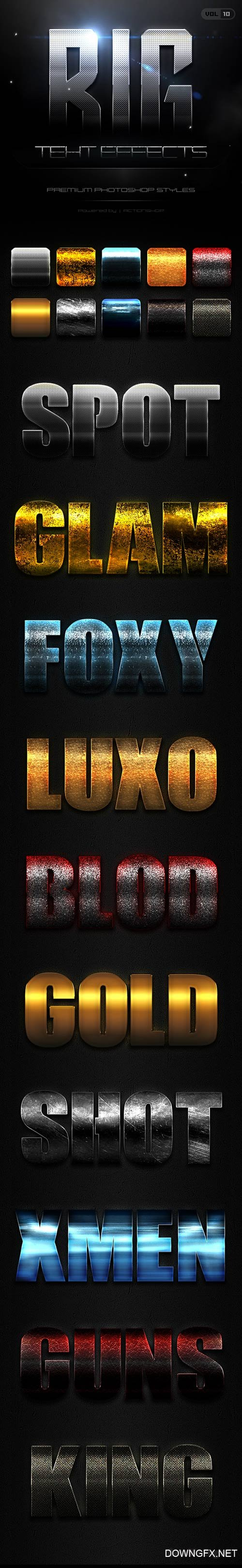 10 Bold Text Effects Vol.10 21186647