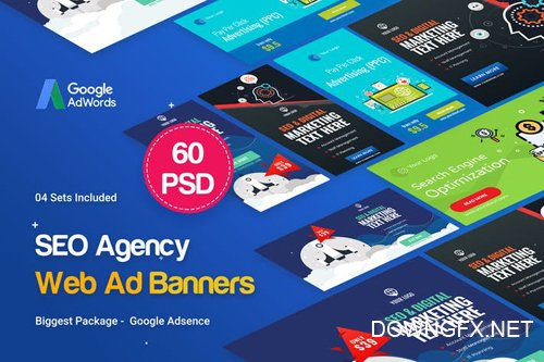 SEO, Marketing Agency Banners Ad - 04 Sets