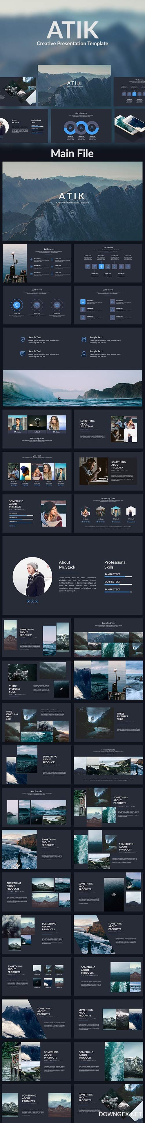 Atik - Creative Powerpoint Template 19413636