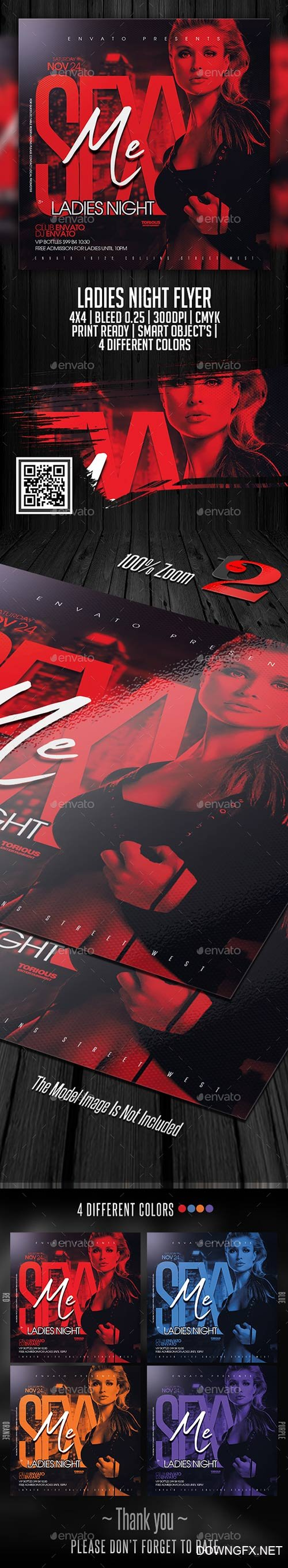 Ladies Night Flyer Template 22600178
