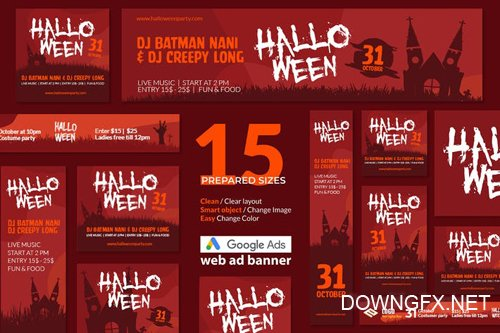 Halloween Event Google Ads Web Banner - Huen - 2