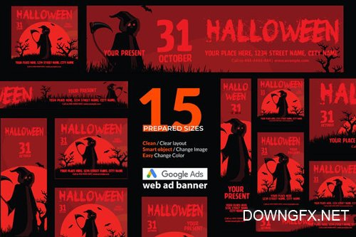 Halloween Event Google Ads Web Banner - Huen - 1
