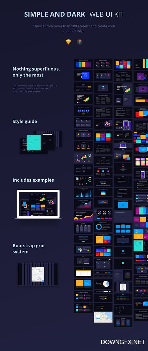 Simple & Dark UI Kit