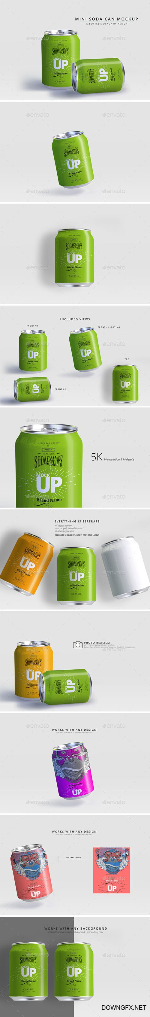 Mini Can Mockup Food and Drink 22613518