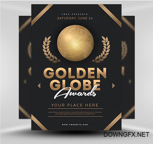 PSD Golden Globe Award v1