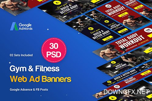 PSD Gym & Fitness Banners Ad