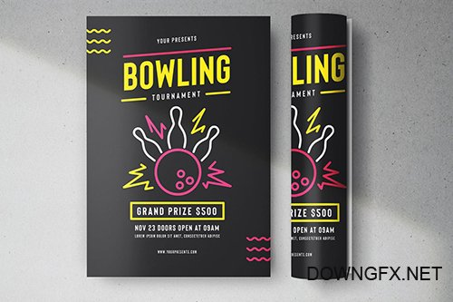 PSD Bowling Tournament Flyer