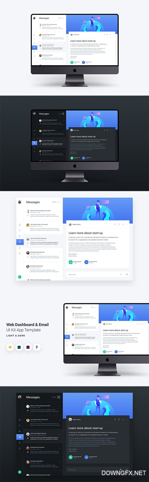 Web Dashboard & Email UI Kit App Template 2
