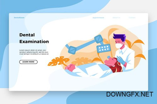 Dentists Exams - Banner & Landing Page