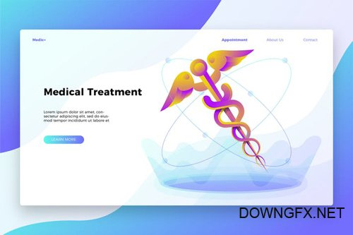 Medical treatment - Banner & Landing Page