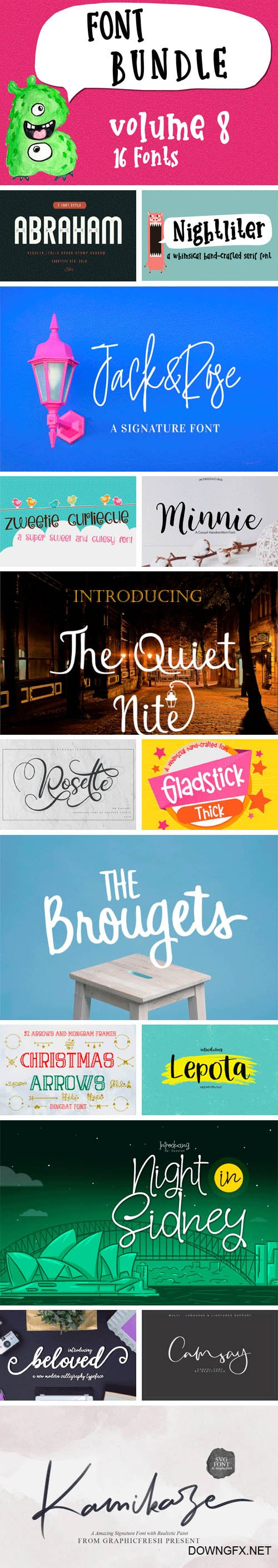CF - Font Bundle Vol. 8