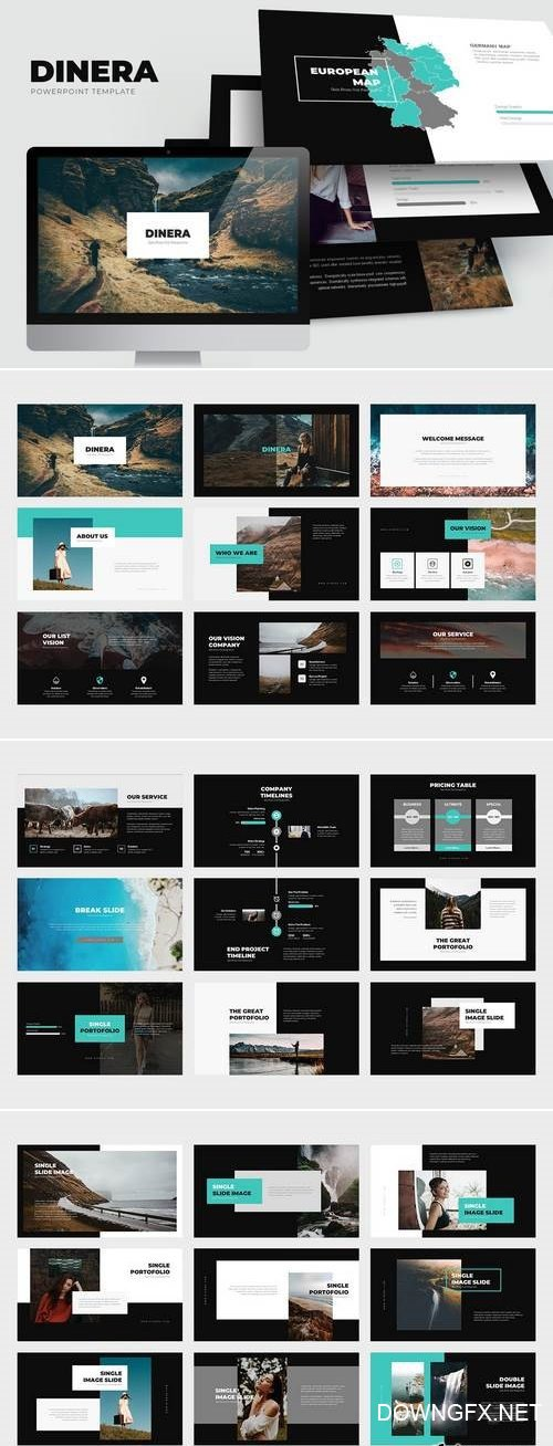 Dinera : Minimal Nature Powerpoint Template