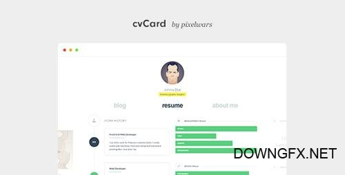 ThemeForest - cvCard WP v1.3.8 - Responsive vCard WordPress Theme - 7476245