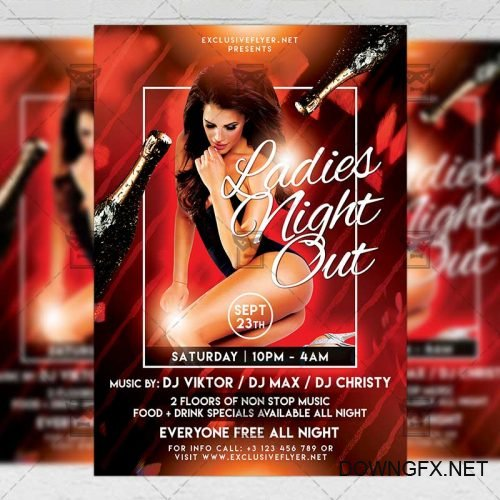 Club A5 Template - Ladies Night Out Flyer