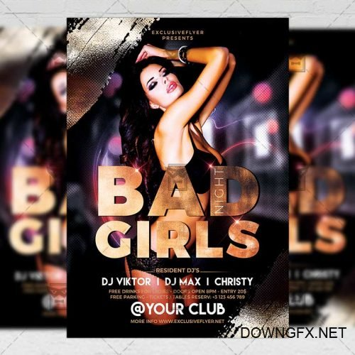 Club A5 Template - Bad Girls Flyer