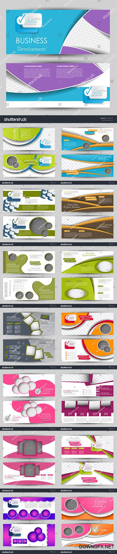 Vector Flyers banners or web headers templates