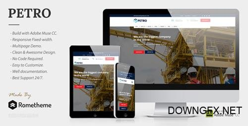 ThemeForest - Petro v1.0 - Industrial Muse Template - 20019567