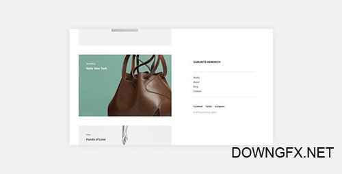 ThemeForest - Samanta v1.0.0 - Minimal Portfolio WordPress Theme - 21463208