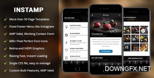 ThemeForest - AMP Insta Mobile - Mobile Google AMP Template (Update: 4 September 18) - 20398389