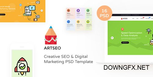 ThemeForest - ARTSEO v1.0 - Creative Seo & Digital Marketing PSD Template - 22642241