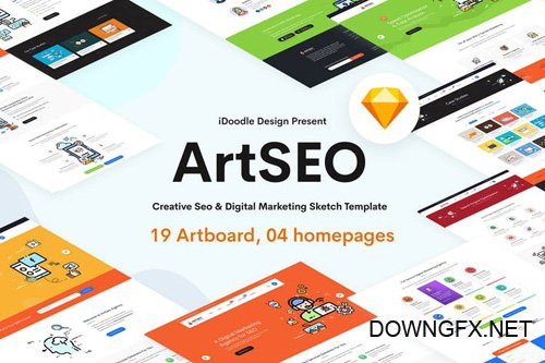 ARTSEO - SEO & Digital Marketing Sketch Template