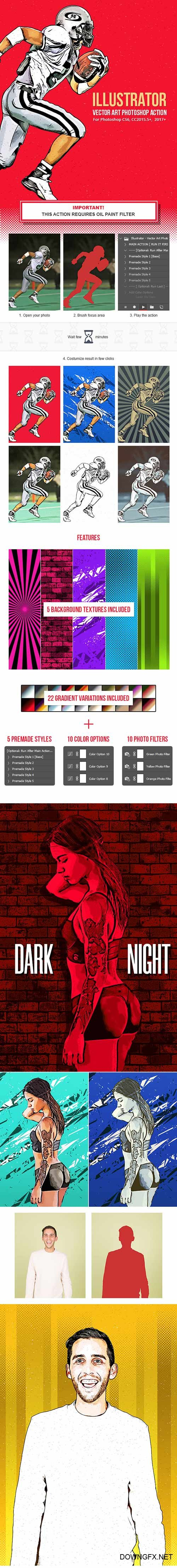 GraphicRiver - Illustrator - Vector Art Photoshop Action 22222983