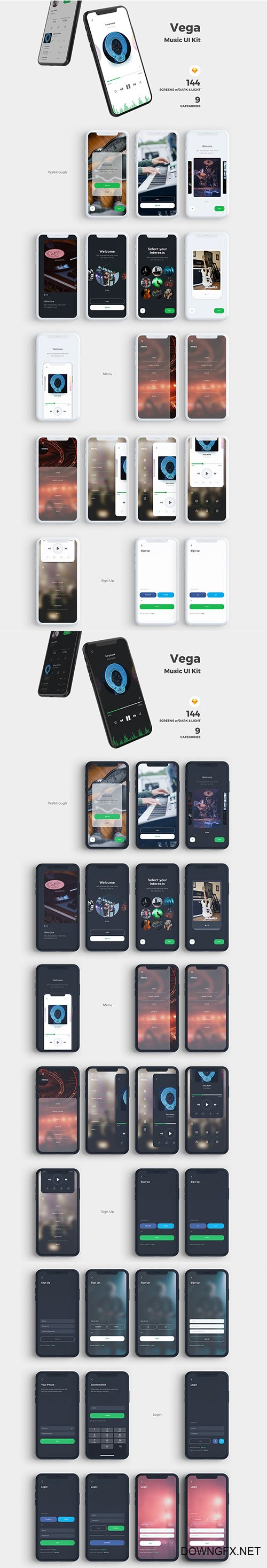 Vega Music IOS UI Kit
