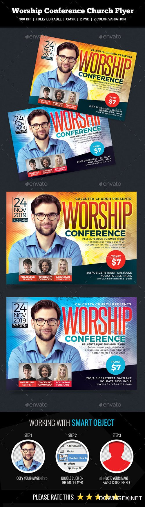 GraphicRiver - Worship Conference Church Flyer 22337102