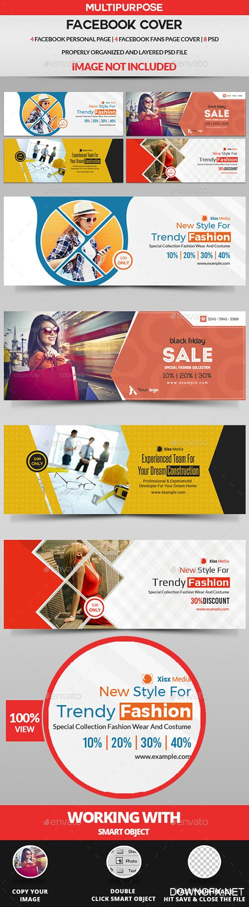 GraphicRiver - Facebook Cover Bundle - 8 Design 22291043
