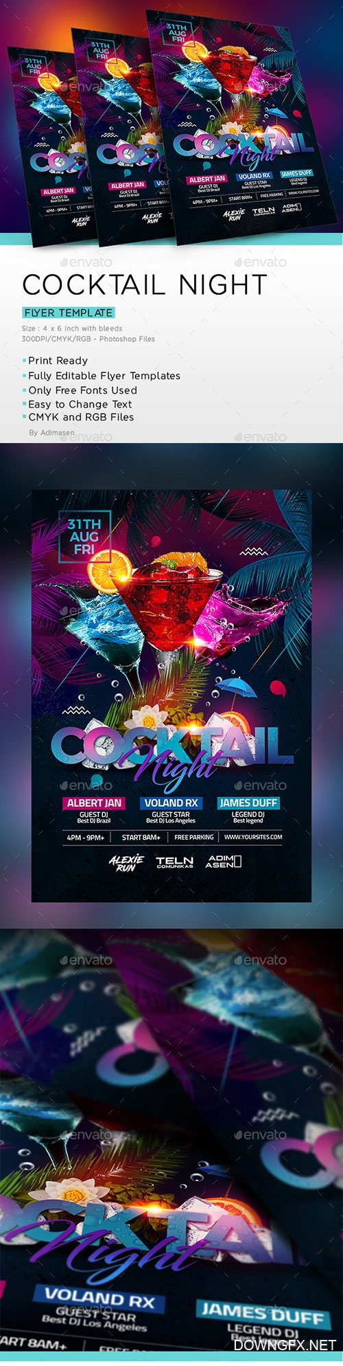 GraphicRiver - Cocktail Night 22302131