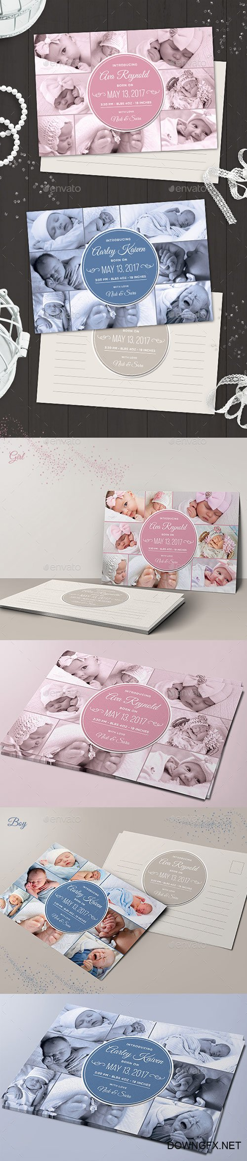Graphicriver - Baby Announcement ( Boy & Girl ) 18624750