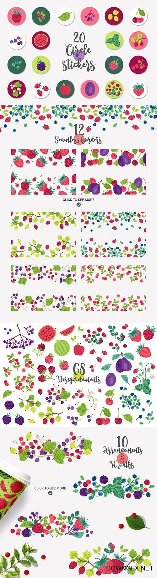 CreativeMarket - Juicy Berries Kit 2767403