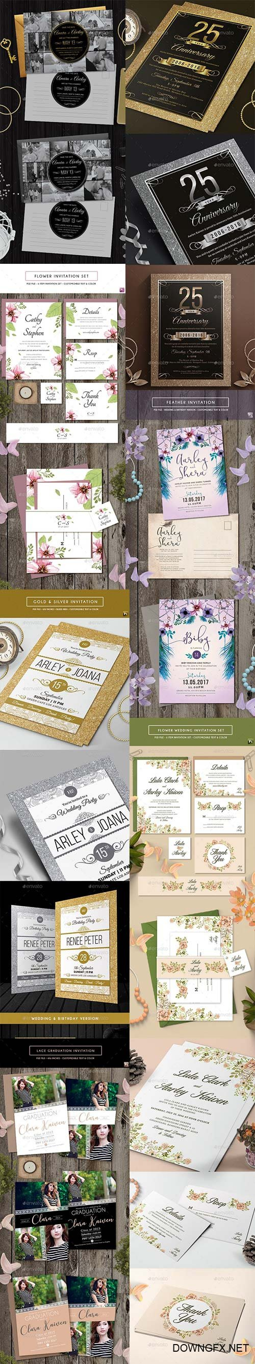 Elegant Wedding Invitations and Post Card