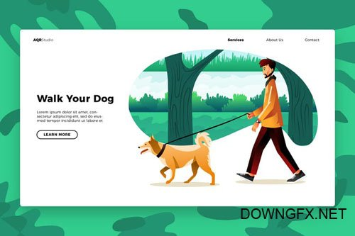 Walk your - Banner & Landing Page