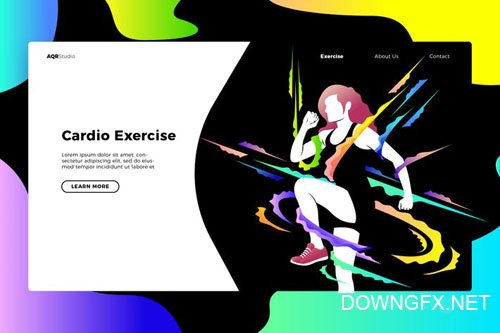 Cardio - Banner & Landing Page