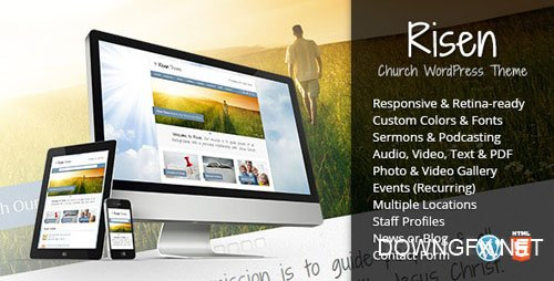ThemeForest - Risen v2.6 - Church WordPress Theme (Responsive) - 2632774