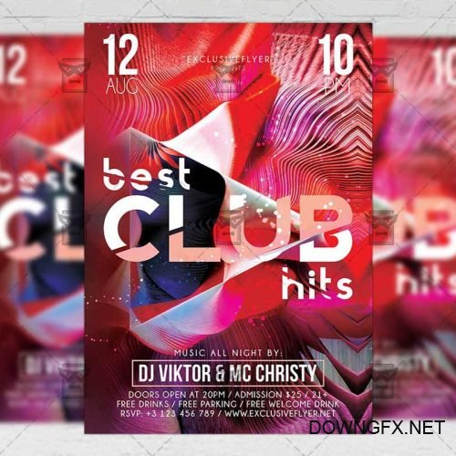 Club A5 Template - Best Club Hits Flyer