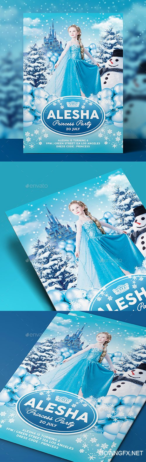 GR - Ice Princess Party Flyer / Invitation 18326567