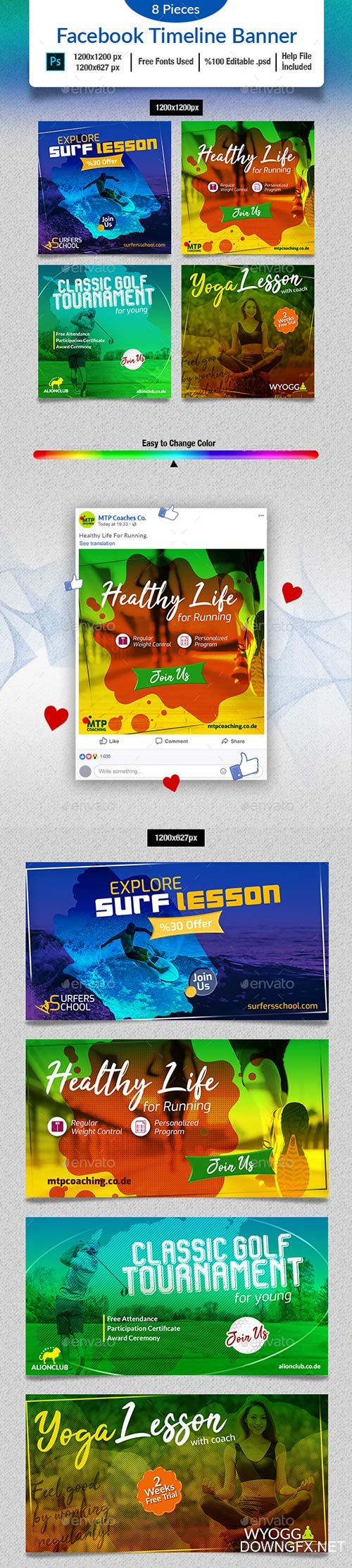 GraphicRiver - Sports Social Media Banner 22175519