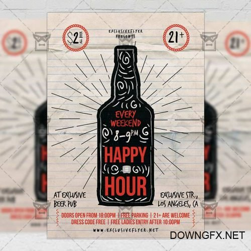 Food A5 Template - Happy Hour Flyer