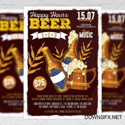 Food A5 Template - Happy Hours Flyer